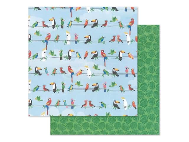 """Photo Play Collection Aloha Paper 12""""x 12"""" Parrot Bay"""