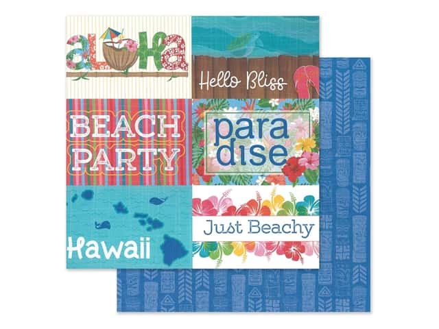 """Photo Play Collection Aloha Paper 12""""x 12"""" Paradise"""