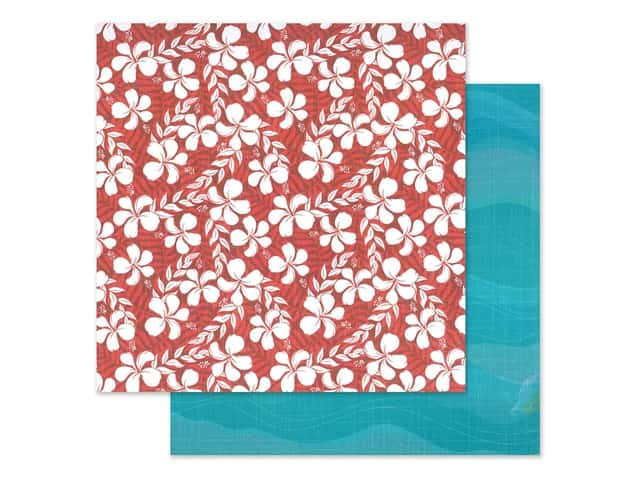 """Photo Play Collection Aloha Paper 12""""x 12"""" Salty Ocean"""