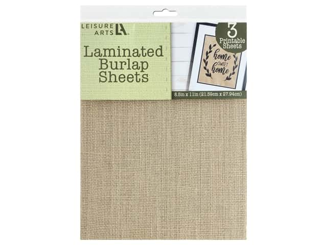 Leisure Arts Laminated Burlap Sheets - 8 1/2 x 11 in. Natural 3 pc.