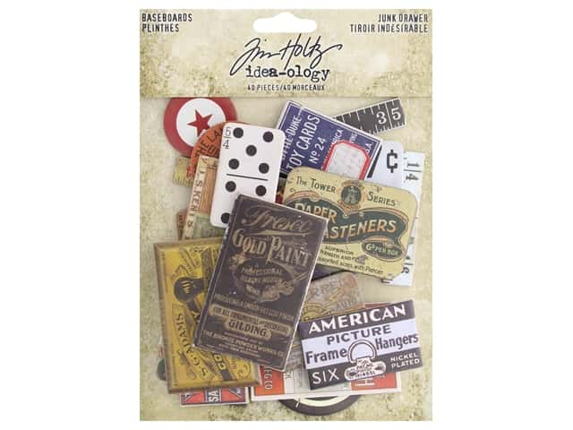 Tim Holtz Idea-ology Baseboards Junk Drawer