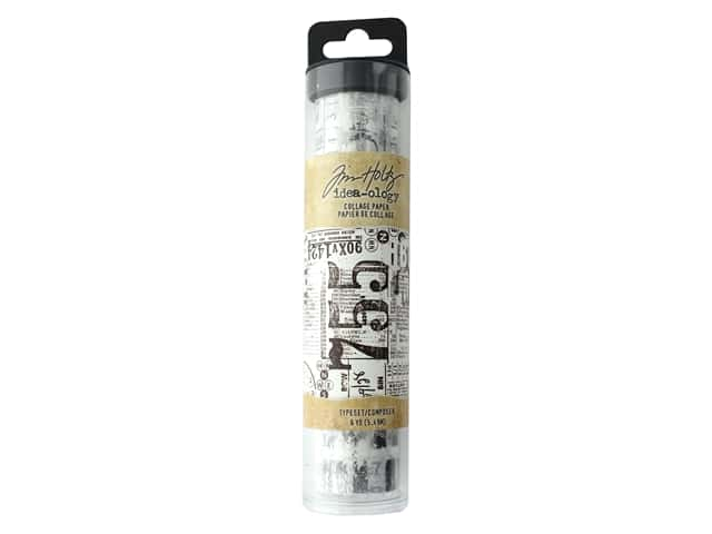 Tim Holtz Idea-ology Collage Paper Typeset