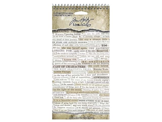 Tim Holtz Idea-ology Clipping Sticker Book