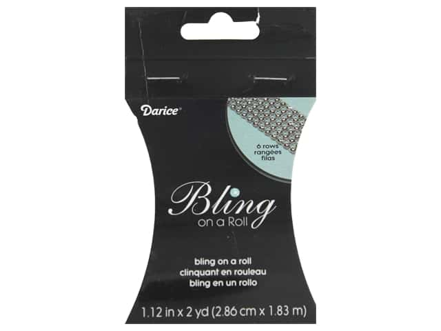 Darice Bling On A Roll Mesh Ribbon 1 1/4 in. 2 yd. Silver