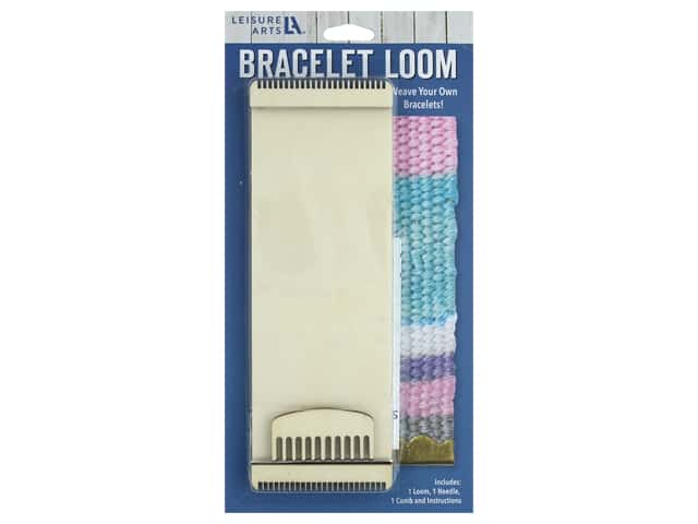 Leisure Arts Kit Mini Maker Bracelet Weaving Loom
