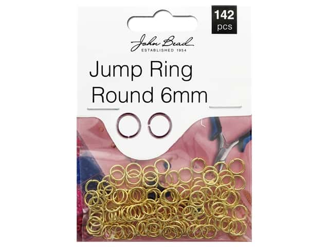John Bead Must Have Findings Jump Ring Round 6mm Gold 142pc