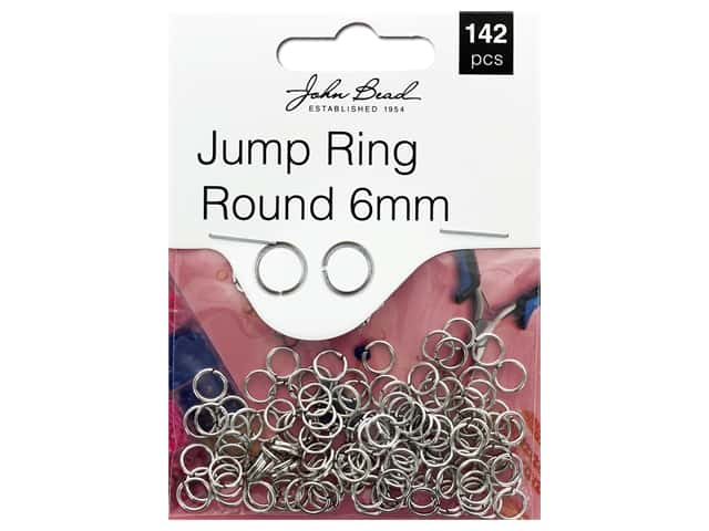 John Bead Must Have Findings Jump Ring Round 6mm Antique Silver 142pc