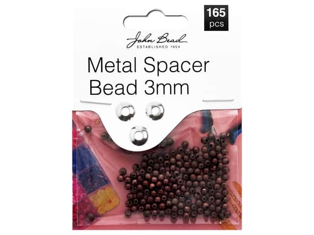 John Bead Must Have Findings Spacer Bead Metal 3mm Antique Copper 165pc