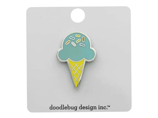 Doodlebug Party Time Collectible Pins Sugar Cone