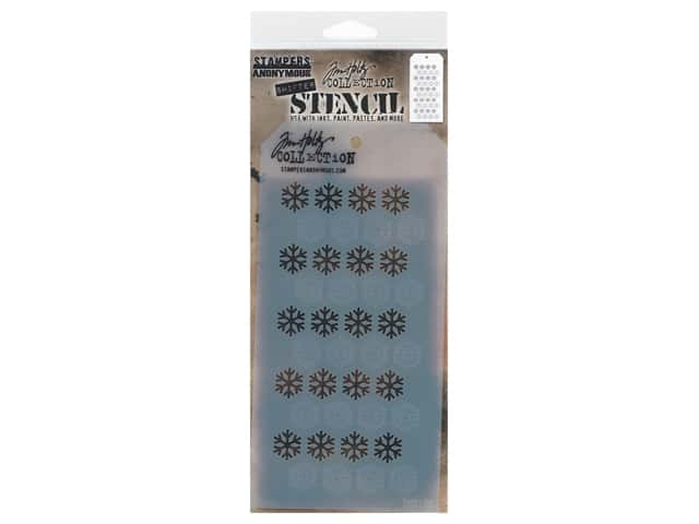 Stampers Anonymous Layering Stencil Tim Holtz Shifter Snowflake