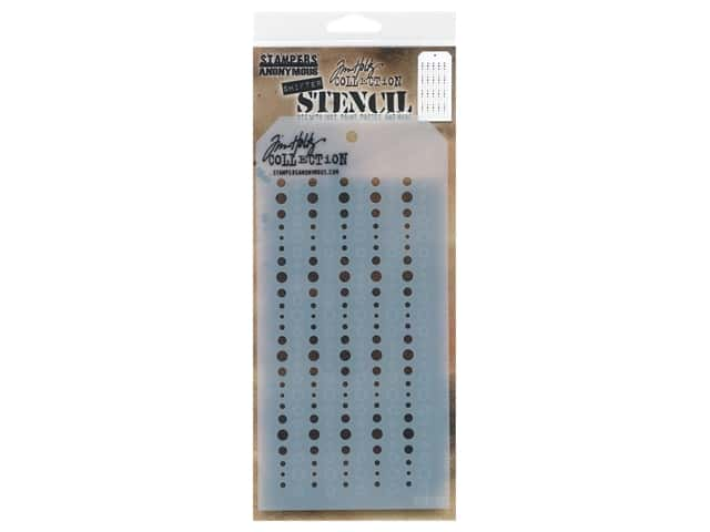 Stampers Anonymous Layering Stencil Tim Holtz Shifter Baubles