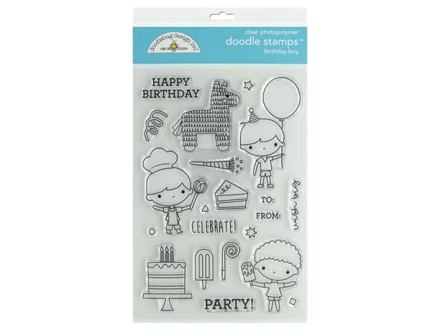 Doodlebug Party Time Doodle Stamps Birthday Boy