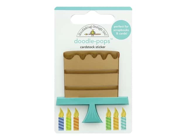 Doodlebug Party Time Doodle Pops Chocolate Cake