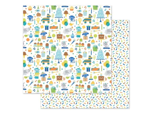 "Doodlebug Party Time Paper 12""x 12"" Party Time"