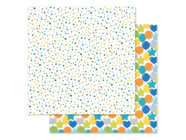 "Doodlebug Party Time Paper 12""x 12"" Confetti Fest"