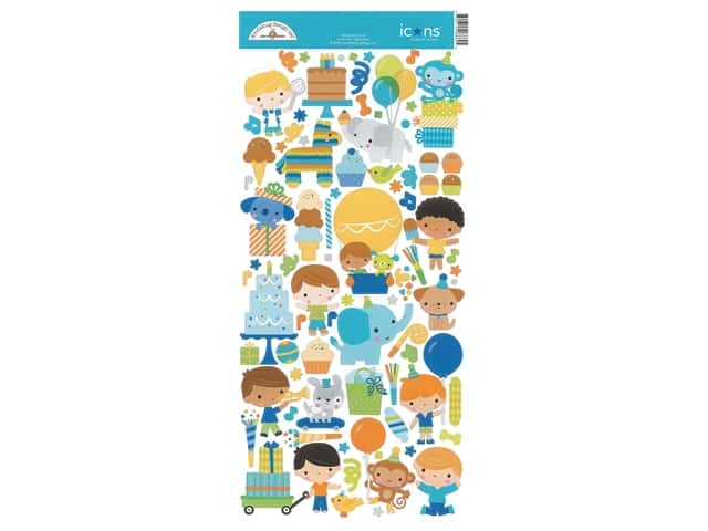 Doodlebug Party Time Sticker Icons