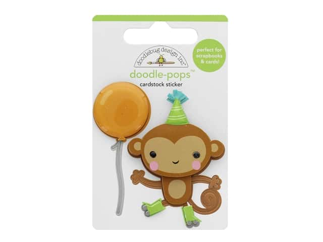Doodlebug Party Time Doodle Pops Monkey Business