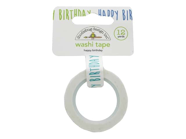 Doodlebug Party Time Washi Tape Happy Birthday