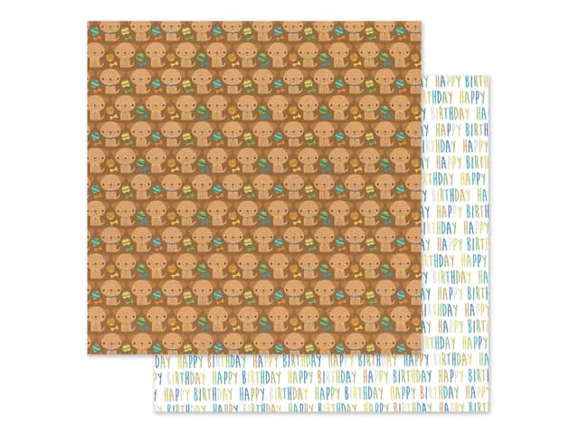 "Doodlebug Party Time Paper 12""x 12"" Playful Puppies"