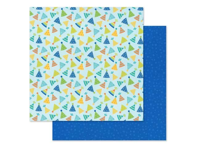"Doodlebug Party Time Paper 12""x 12"" Hats Off"