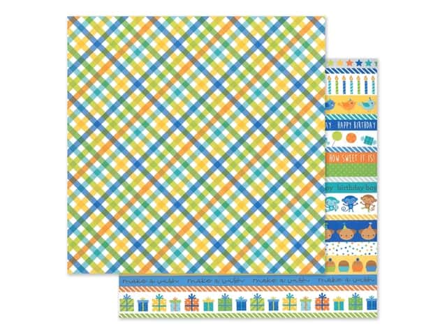 "Doodlebug Party Time Paper 12""x 12"" Party Boy"