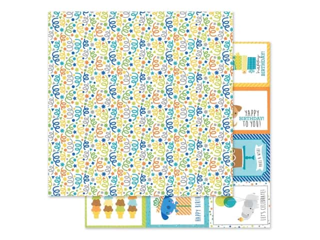 "Doodlebug Party Time Paper 12""x 12"" Surprise!"