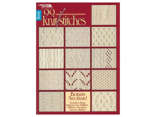 Leisure Arts 99 Knit Stitches Book