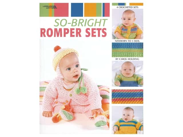 Leisure Arts So Bright Romper Sets Crochet Book