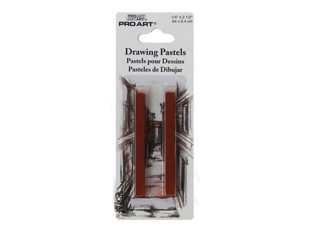 Pro Art Mark Drawing Pastel Sanguine Natural 2 pc