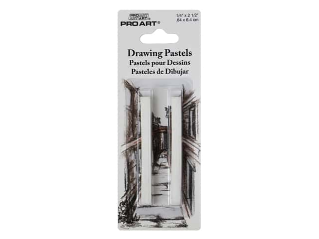 Pro Art Drawing Pastel 2B White 2pc