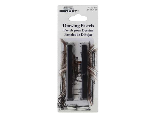 Pro Art Mark Drawing Pastel HB Black 2 pc