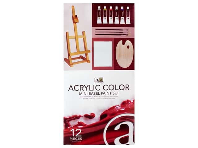 Art Advantage Acrylic Paint Set Mini Easel