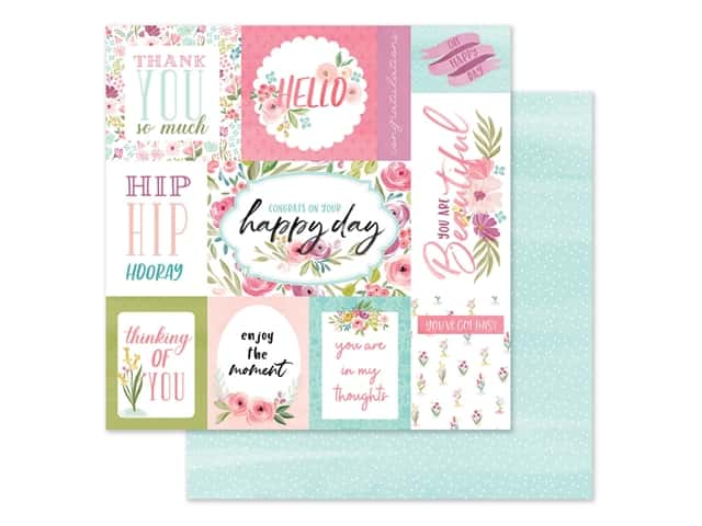 "Carta Bella Collection Flora #3 Paper 12""x 12"" Bright Journal Cards"