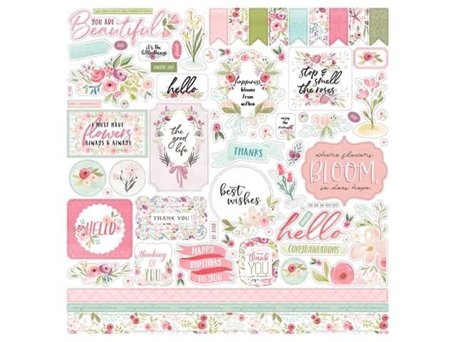 "Carta Bella Collection Flora #3 Sticker 12""x 12"" Elements"