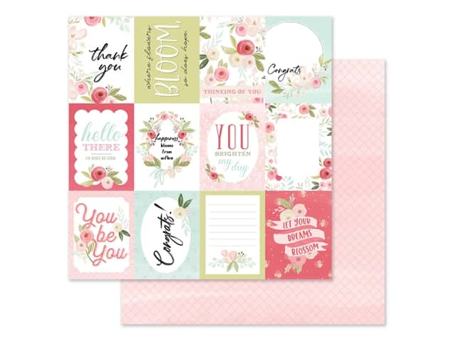 "Carta Bella Collection Flora #3 Paper 12""x 12"" Subtle Journal Cards"