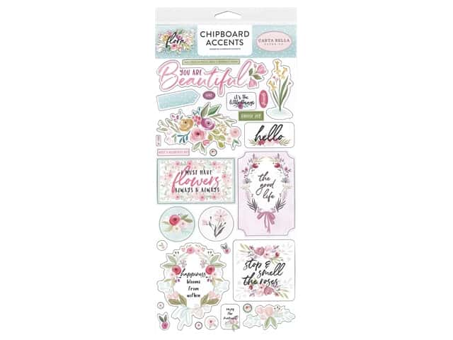 "Carta Bella Collection Flora #3 Chipboard 6""x 12"" Accents"