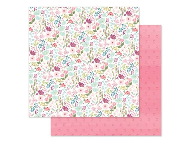 "Carta Bella Collection Flora #3 Paper 12""x 12"" Bright Small Floral"