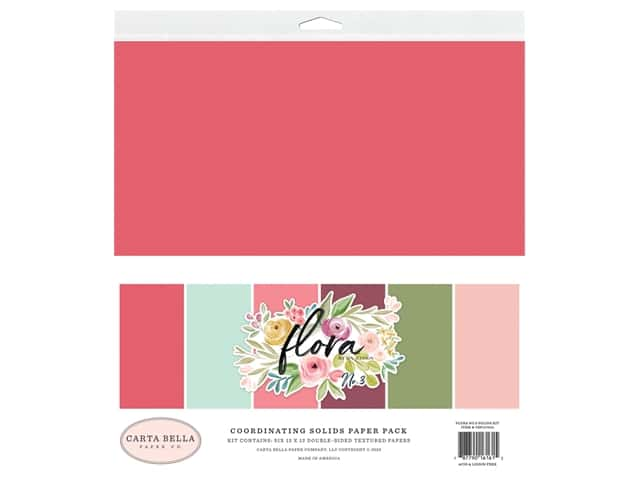 "Carta Bella Collection Flora #3 Solids Kit 12""x 12"""