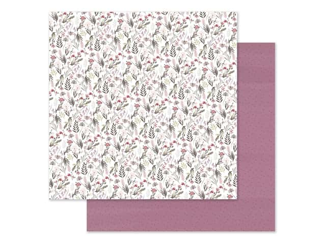 "Carta Bella Collection Flora #3 Paper 12""x 12"" Elegant Small Floral"