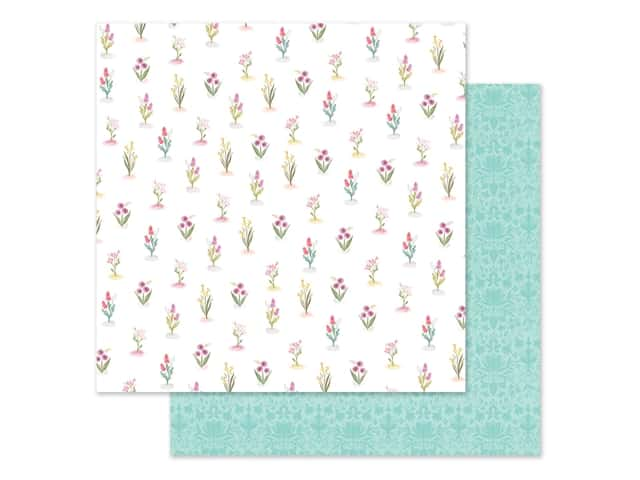 "Carta Bella Collection Flora #3 Paper 12""x 12"" Bright Stems"