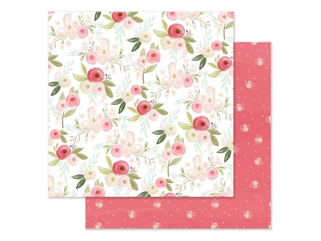 "Carta Bella Collection Flora #3 Paper 12""x 12"" Subtle Large Floral"