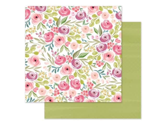 "Carta Bella Collection Flora #3 Paper 12""x 12"" Bright Large Floral"