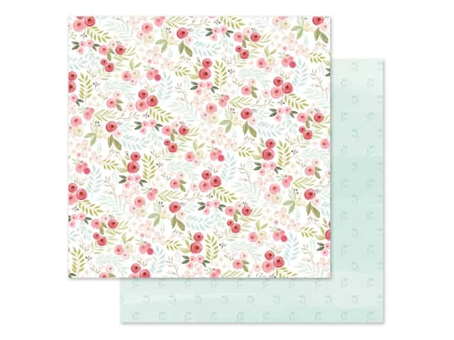 "Carta Bella Collection Flora #3 Paper 12""x 12"" Subtle Small Floral"