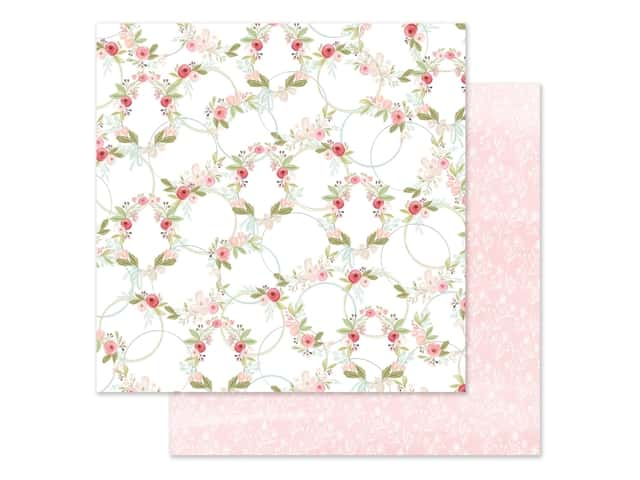"Carta Bella Collection Flora #3 Paper 12""x 12"" Subtle Wreaths"