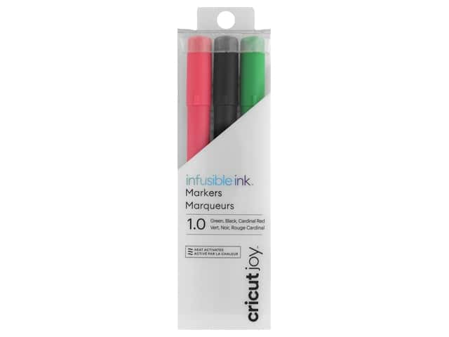 Cricut Joy Infusible Ink Markers 1.0 Black Red Green