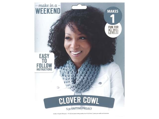 Leisure Arts Kit Make In A Weekend Knit Clover Cowl