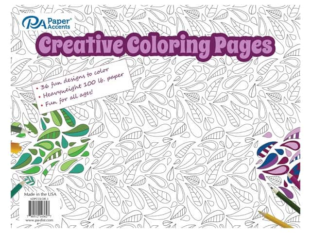 Paper Accents Creative Coloring Pages 8 1/2 x 11 in. 36 pc.
