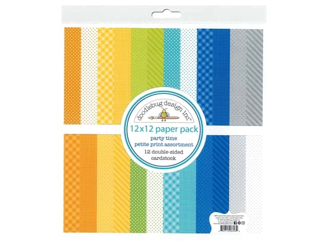"Doodlebug Party Time Paper Pack 12""x 12"" Petite"