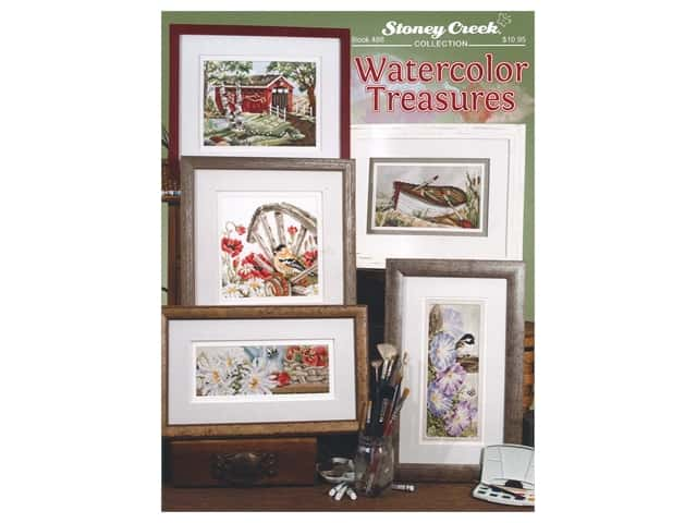 Stoney Creek Watercolor Treasures Cross Stitch Book