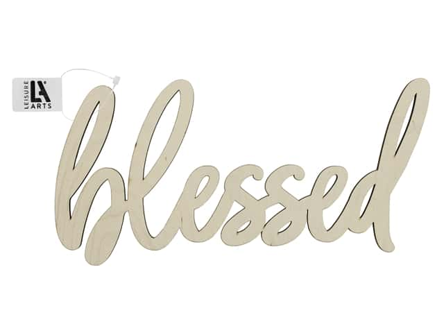 Leisure Arts Wood Word - Large Blessed